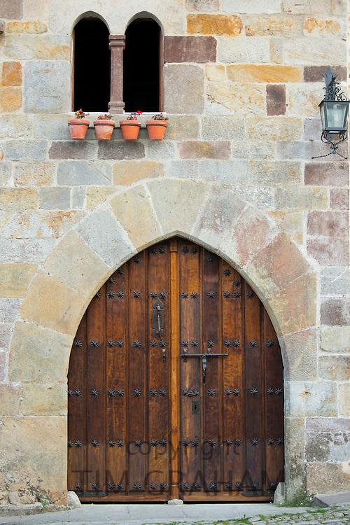 Traditional doorway in Santillana del Mar, Cantabria, Northern Spain