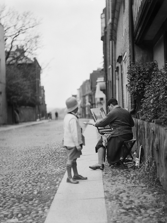 Woman Painting, Rye, Sussex, England, 1935