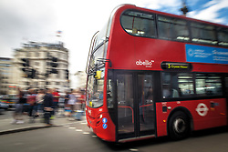 THEMENBILD - Ein Doppeldecker Bus am 02. September 2015 in London // A bus near Trafalgar Square on 02 September 2015. EXPA Pictures © 2016, PhotoCredit: EXPA/ Erwin Scheriau