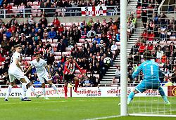 Wahbi Khazri of Sunderland shoots at goal - Mandatory by-line: Robbie Stephenson/JMP - 13/05/2017 - FOOTBALL - Stadium of Light - Sunderland, England - Sunderland v Swansea City - Premier League