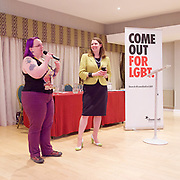 Stonewall and Liberal Democrats LGBTQ fringe meeting.<br /> Bournemouth, Great Britain <br /> 17th September 2017. <br /> <br /> Jennie Rigg - Chair <br /> <br /> Jo Swinson <br /> Deputy Leader of the Liberal Democrats <br /> <br /> Photograph by Elliott Franks <br /> Image licensed to Elliott Franks Photography Services