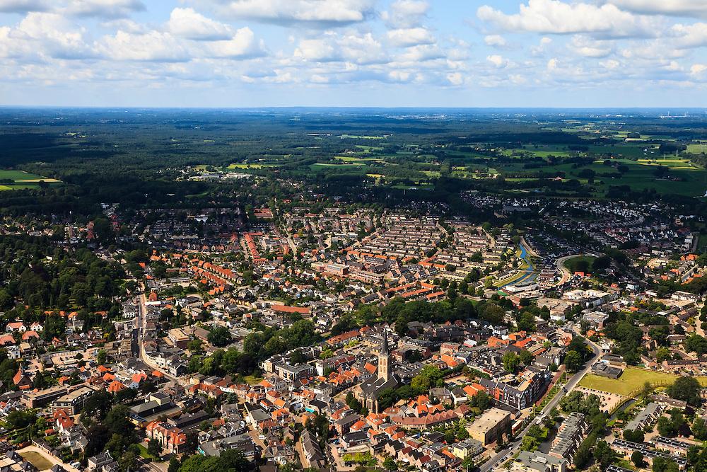 Nederland, Gelderland, Lochem, 30-06-2011;.Zicht op het centrum van Lochem. luchtfoto (toeslag), aerial photo (additional fee required).copyright foto/photo Siebe Swart