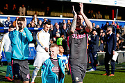 Leeds United mascot with captain Leeds United defender Liam Cooper (6)  during the EFL Sky Bet Championship match between Queens Park Rangers and Leeds United at the Kiyan Prince Foundation Stadium, London, England on 18 January 2020.