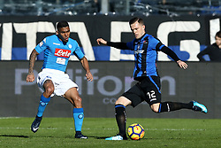 January 21, 2018 - Bergamo, Italy - Allan Loudeiro of Napoli and Josip Ilicic of Atalanta  during the Italian Serie A football match Atalanta Vs Napoli on January 21, 2018 at the 'Atleti Azzurri d'Italia Stadium' in Bergamo. (Credit Image: © Matteo Ciambelli/NurPhoto via ZUMA Press)