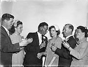 06/08/1957<br /> 08/06/1957<br /> 06 August 1957<br /> <br /> Three Brothers marry three Sisters, Rathfarnham