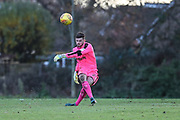 Forest Green Rovers goalkeeper Harry Pickering(24) kick the ball upfield during the The Central League match between Cheltenham Town Reserves and Forest Green Rovers Reserves at The Energy Check Training Ground, Cheltenham, United Kingdom on 28 November 2017. Photo by Shane Healey.