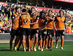 Wolverhampton Wanderers' David Edwards celebrates with his team. - Photo mandatory by-line: Alex James/JMP - Mobile: 07966 386802 10/08/2014 - SPORT - FOOTBALL - Wolverhampton - Molineux Stadium - Wolves v Norwich City - Sky Bet Championship