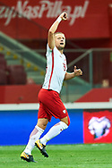 Warsaw, Poland - 2017 September 04: Kamil Glik from Poland celebrates after scoring during soccer match Poland v Kazakhstan - FIFA 2018 World Cup Qualifier at PGE National Stadium on September 04, 2017 in Warsaw, Poland.<br /> <br /> Adam Nurkiewicz declares that he has no rights to the image of people at the photographs of his authorship.<br /> <br /> Picture also available in RAW (NEF) or TIFF format on special request.<br /> <br /> Any editorial, commercial or promotional use requires written permission from the author of image.<br /> <br /> Mandatory credit:<br /> Photo by © Adam Nurkiewicz / Mediasport