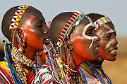 Massai tribeswoman sign and dance.