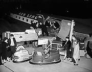 Aer Lingus - Unloading Dodgem Cars at Dublin Airport <br /> 19/03/1959
