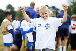 Local Junior Schools compete in a Tag Rugby Competion - Mandatory byline: Rogan Thomson/JMP - 07966 386802 - 14/07/2015 - SPORT - RUGBY UNION - Bristol, England - Durdham Downs -  Webb Ellis Cup visits Bristol as part of the 2015 Rugby World Cup Trophy Tour