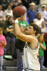 08 December 2002:   Seth Hubbard during an NCAA Division 3 basketball game between the Washington University Bears and the Illinois Wesleyan Titans at Shirk Center in Bloomington Illinois.