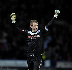 Huddersfield Town's Alex Smithies celebrates his team mates goal. - Photo mandatory by-line: Alex James/JMP - Tel: Mobile: 07966 386802 29/12/2013 - SPORT - FOOTBALL - John Smith's Stadium - Huddersfield - Huddersfield Town v Yeovil Town - Sky Bet Championship