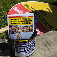 30 June 2015 - Strike day 43. National Gallery staff continue strike.