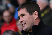 Burton Albion manager Nigel Clough during the Sky Bet League 1 match between Burton Albion and Barnsley at the Pirelli Stadium, Burton upon Trent, England on 16 April 2016. Photo by Aaron  Lupton.