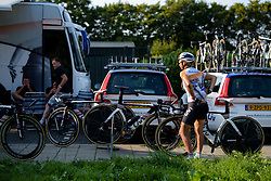 Anouska Koster returns from a course recon at the 26.4 km Stage 2 Team Time Trial of the Boels Ladies Tour 2016 on 31st August 2016 in Gennep, Netherlands. (Photo by Sean Robinson/Velofocus).