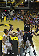 December 29 2010: Illinois Fighting Illini guard/forward Jereme Richmond (22) puts up a shot during the first half of an NCAA college basketball game at Carver-Hawkeye Arena in Iowa City, Iowa on December 29, 2010. Illinois defeated Iowa 87-77.