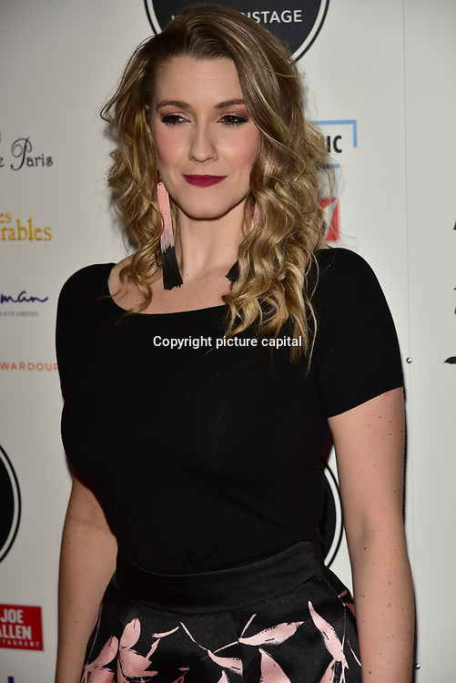 Alice Fearn Arriver at the 18th Annual WhatsOnStage Awards 2018 at Prince of Wales Theatre on 25 Feb 2018, London, UK