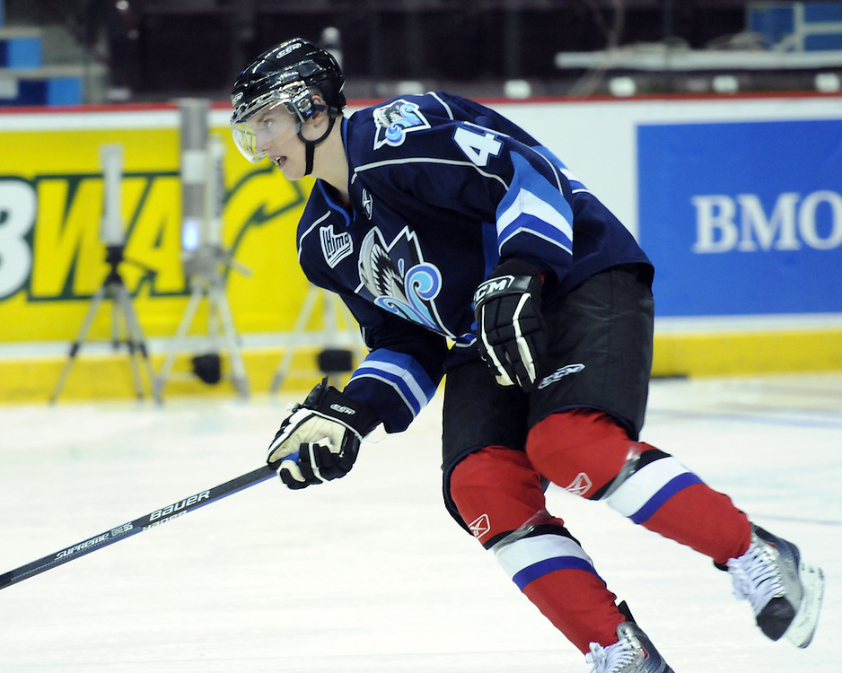Jakub Culek of the Rimouski Oceanic participates in Next Testing at the Home Hardware CHL Top Prospects Game in Windsor, ON on Tuesday. Photo by Aaron Bell/CHL