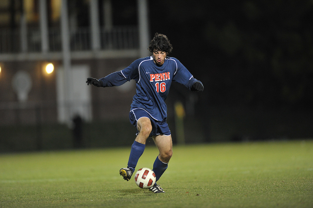 PRINCETON, NJ - NOVEMBER 6:  Penn men's soccer lost to Princeton 2-1 at Myslik Field on November 6, 2010 in Princeton, New Jersey. (Photo by Drew Hallowell)
