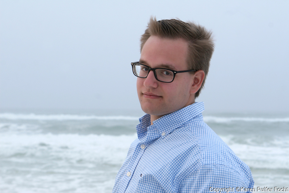 Male portraits on the beach. (Model Release)