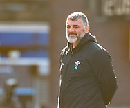 Head Coach Rowland Phillips of Wales during the pre match warm up<br /> <br /> Photographer Simon King/Replay Images<br /> <br /> Six Nations Round 3 - Wales Women v England Women - Sunday 24th February 2019 - Cardiff Arms Park - Cardiff<br /> <br /> World Copyright © Replay Images . All rights reserved. info@replayimages.co.uk - http://replayimages.co.uk