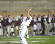 Ole Miss vs. Texas A&M yell leader in College Station, Texas on Saturday, October 11, 2014.