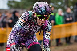 RUNNELS Samantha (USA) during Women Elite race, 2019 UCI Cyclo-cross World Cup Heusden-Zolder, Belgium, 26 December 2019. <br /> <br /> Photo by Pim Nijland / PelotonPhotos.com <br /> <br /> All photos usage must carry mandatory copyright credit (Peloton Photos | Pim Nijland)
