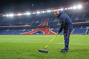 Jonathan Calderwood (PSG) at work at the end of the game during the French Championship Ligue 1 football match between Paris Saint-Germain and ESTAC Troyes on November 29, 2017 at Parc des Princes stadium in Paris, France - Photo Stephane Allaman / ProSportsImages / DPPI