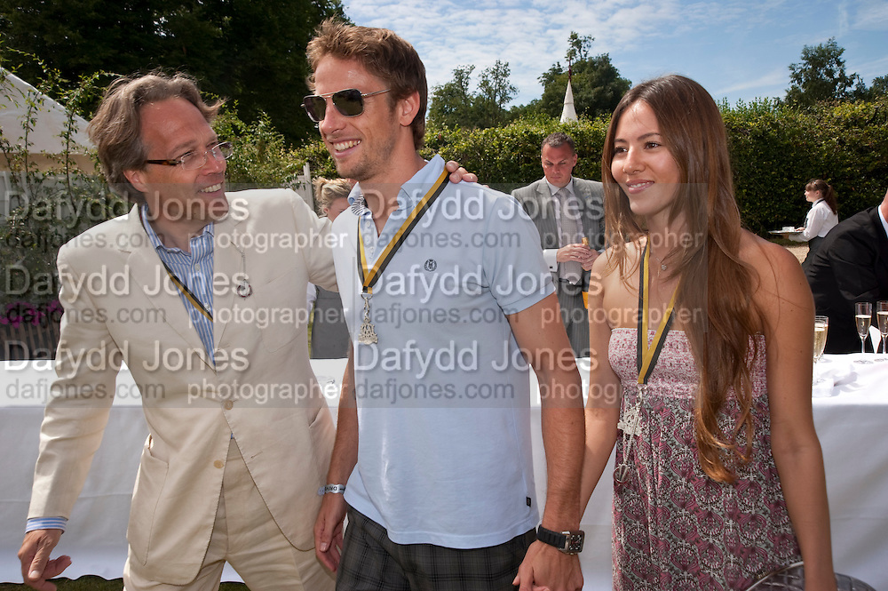 THE EARL OF MARCH; JENSON BUTTON; JESSICA MICHIBATA, Cartier Style et Luxe at the Goodwood Festival of Speed. Goodwood House. 5 July 2009.
