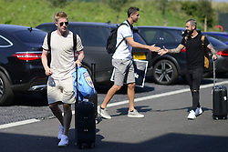 August 28, 2017 - Tubize, Belgique - TUBIZE, BELGIUM - AUGUST 28 : Kevin De Bruyne forward of Belgium, Koen Casteels  goalkeeper of Belgium and Steven Defour midfielder of Belgium arriving at the Martin's Red hotel prior to the World Cup 2018 qualification games against Gibraltar and Greece at the Belgian Football center on August 28, 2017 in Tubize, Belgium, 28/08/2017 (Credit Image: © Panoramic via ZUMA Press)