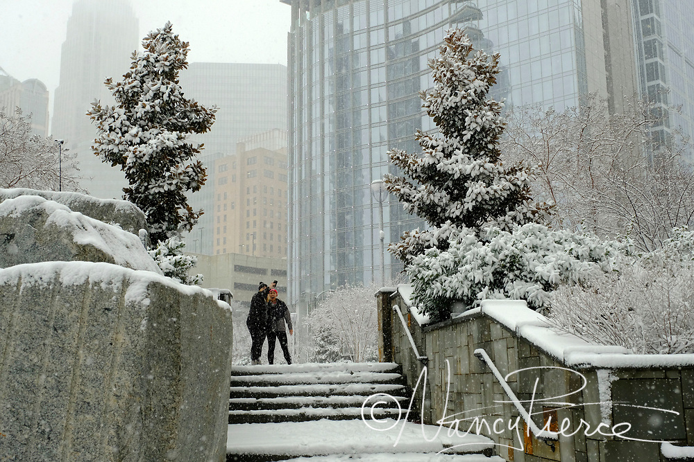 January 2017 snow. Romare Bearden Park.