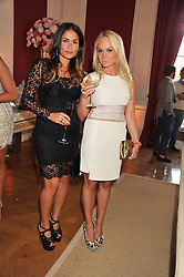 Left to right, MARYAM NOURIAN and KATHRINE FREDRIKSEN at a party to celebrate Tamara Ecclestone's 28th birthday held in Tyringham, Newport Pagnell, Bucks on15th June 2012.