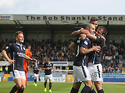 Dundee's Gary Harkins is congratulated after scoring by Paul McGowan and Luka Tankulic - Dundee v Kilmarnock - SPFL Premiership at Dens Park<br /> <br />  - &copy; David Young - www.davidyoungphoto.co.uk - email: davidyoungphoto@gmail.com