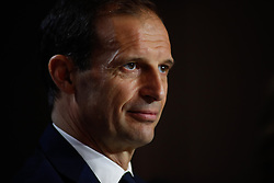 February 19, 2019 - Madrid, MADRID, SPAIN - Massimiliano Allegri of Juventus during the press conference before the Champions League football match between Atletico de Madrid and Juventus at Wanda Metropolitano stadium, Madrid, Spain, Februeary 19th 2019. (Credit Image: © AFP7 via ZUMA Wire)