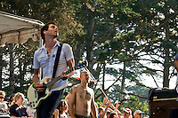 Guitarist for Michael Franti and Spearhead plays 12th Annual Power to the Peaceful Festival in Golden Gate Park, in San Francisco, CA.  Copyright 2010 Reid McNally.