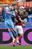 David Lopez Napoli, Miralem Pjanic Roma <br /> Roma 04-04-2015 Stadio Olimpico, Football Calcio Serie A AS Roma - Napoli Foto Andrea Staccioli / Insidefoto