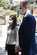 052520 Spanish Royals attends a meeting at Elcano Royal Institute