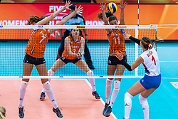 11-10-2018 JPN: World Championship Volleyball Women day 12, Nagoya<br /> Netherlands - Serbia 3-0 / Juliet Lohuis #7 of Netherlands, Anne Buijs #11 of Netherlands