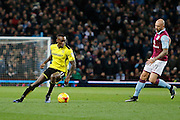 Burton Albion midfielder Lloyd Dyer (11) and Aston Villa defender Alan Hutton (21) during the EFL Sky Bet Championship match between Aston Villa and Burton Albion at Villa Park, Birmingham, England on 26 December 2016. Photo by Richard Holmes.