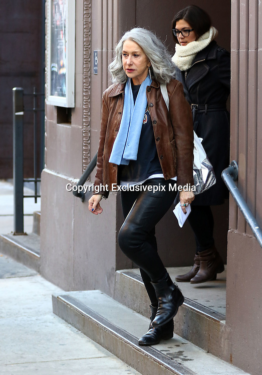 March 1, 2016 - New York City, NY, USA - <br /> <br /> Actress Helen Mirren was on the set of the new movie 'Collateral Beauty' on March 1 2016 in New York City <br /> ©Exclusivepix Media