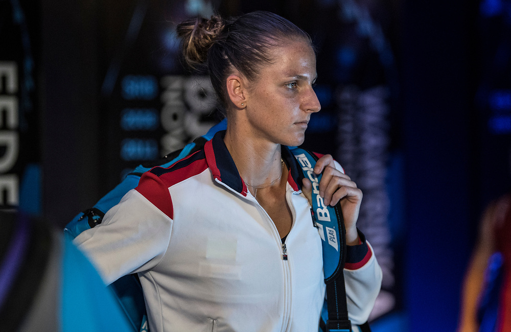 Karolina Pliskova of the Czech Republic on day ten of the 2018 Australian Open in Melbourne Australia on Wednesday January 24, 2018.<br /> (Ben Solomon/Tennis Australia)