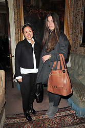 Left to right, LILLIAN VON STAUFFENBERG and ELIZABETH SALTZMAN at a screening of Charlotte Olympia's new film 'To Die For' held at Mark's Club, Charles Street, London W1 on 22nd February 2011.