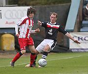 Chris Johnston and Gary Irvine  - Dundee v Kilmarnock -  Clydesdale Bank Scottish Premier League . .© David Young - www.davidyoungphoto.co.uk - email: davidyoungphoto@gmail.com