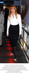 SARAH, DUCHESS OF YORK at a party in London on 9th September 2003. PMG 107