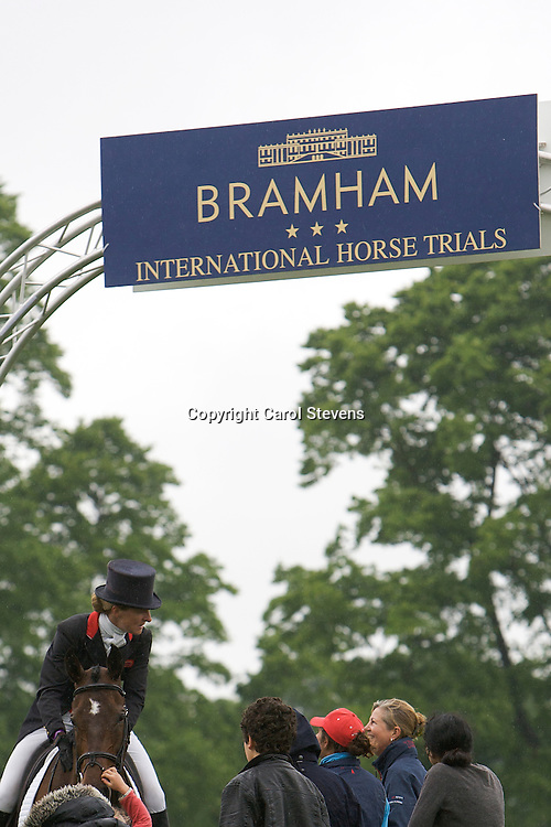 Kristina Cook riding Regal Red<br /> Bramham International Horse Trials  CCI*** Dressage