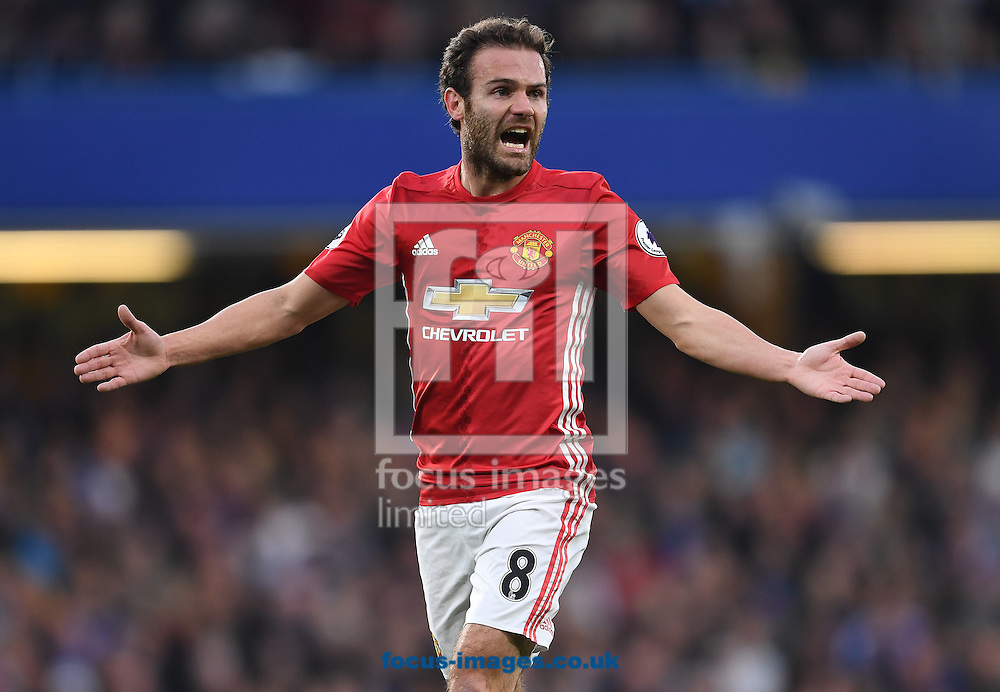 Juan Mata of Manchester United during the Premier League match against Chelsea at Stamford Bridge, London<br /> Picture by Andrew Timms/Focus Images Ltd +44 7917 236526<br /> 23/10/2016
