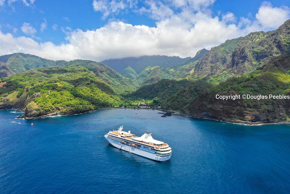 Paul Gauguin Cruise Ship, Omao, Fatu Hiva, Marquesas, French Polynesia, South Pacific
