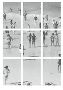 Polly's Beach: Grid series#1; Edition of 5 ; Black and white archival prints; nine 13 by 19 inches; total installation size is aproximately 43 by 61 inches; mounted on metal with wood cleats;price available on request.