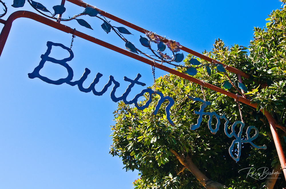 Sign at Burton Forge gallery, Cambria, California